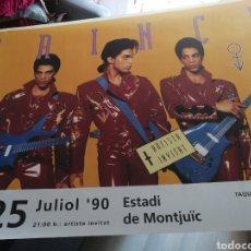 Musique de collection: PRINCE CARTEL CONCIERTO GIRA NUDE EN ESTADI DE MONTJUICH BARCELONA 1990 139X100CM. Lote 287669893