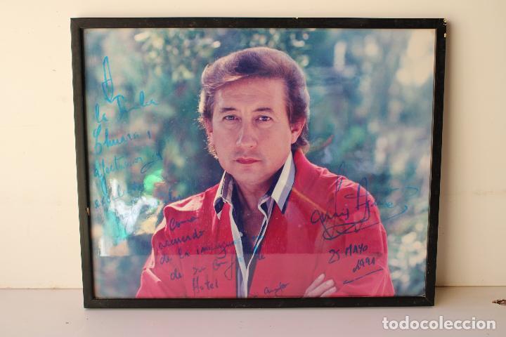 Música de colección: autógrafo cuadro Foto de : Famoso luis aguilé en 1991 - Foto 6 - 288435593