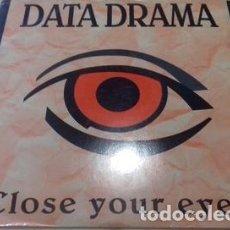 Música de colección: DATA DRAMA CLOSE YOUR EYES 1992 ITALY ELECTRONIC EURO HOUSE. Lote 289046248
