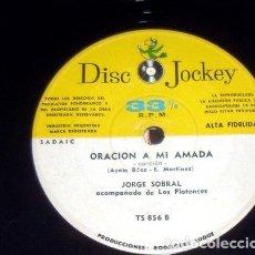 Música de colección: JORGE SOBRAL RIO MANSO ORACION A MI AMADA SIMPLE. Lote 289046263