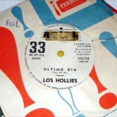 Música de colección: LOS HOLLIES ULTIMO DIA PONTE EN MI LUGAR SIMPLE KKTUS. Lote 289046268
