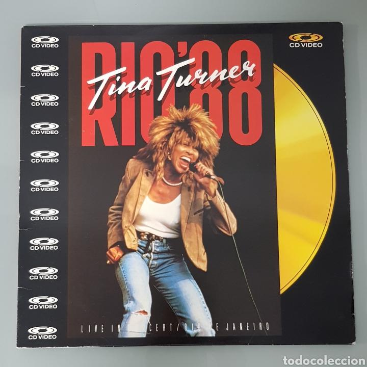 TINA TURNER RIO 88 CD VIDEO LASER DISC (Música - Varios)