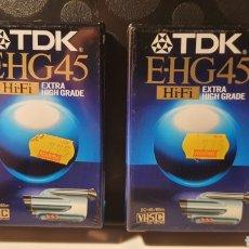 Música de colección: LOTET 2 CINTAS DE CAMARA DE VIDEO// TDK E-HG45 / HI-FI EXTRA HIGH GRADE/ EC-45/65M/ VHS/( NUEVAS!!). Lote 289890768