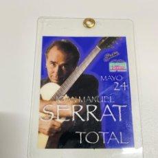 Música de colección: BACKSTAGE 2002 JOAN MANUEL SERRAT, MONTERREY MÉXICO, VER FOTOS (3,63 ENVÍO CERTIFICADO). Lote 289904018