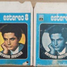 Música de colección: ANTONIO MOLINA / DOS CINTAS DE OCHO PISTAS. Lote 290855703
