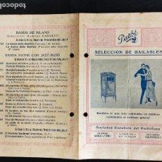 Música de colección: AÑOS 20 - PATHÉ - SELECCION DE BAILABLES - SOCIEDAD ESPAÑOLA DE PATHEFONO -. Lote 292540368