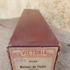 Música de colección: ROLLO PIANOLA MARCA VICTORIA 5126. MOLINOS DE VIENTO. LUNA.. Lote 293478968