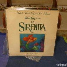 Música de colección: EXPRO LP BSO OST DE LA PELI DE WALT DISNEY LA SIRENITA BUEN ESTADO GENERAL. Lote 294977423