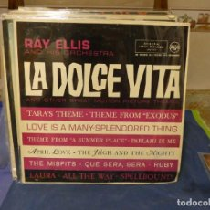 Música de colección: EXPRO LP ESPAÑA 1961 BUEN ESTADO GENERAL RAY ELIS AND ORCHESTRA LA DOLCE VITA 1961. Lote 294977658