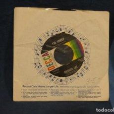 Música de colección: BOXX129 DISCO 7 PULGADAS USA ESTADO DECENTE BRENDA LEE I'M SORRY / THAT'S ALL YOU GOTTA DO. Lote 295475683
