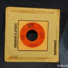 Música de colección: BOXX129 DISCO 7 PULGADAS USA ESTADO DECENTE BOBBY G. RICE LOVE ME TONIGHT / FREDA COMES, FREDA GOES. Lote 295476783