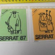Música de colección: 2 PASES BACKSTAGE 1987 JOAN MANUEL SERRAT.VER FOTOS (3,92 ENVÍO CERTIFICADO). Lote 295498313