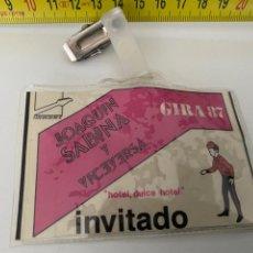 Música de colección: PASE INVITADO GIRA 1987 JOAQUÍN SABINA Y VICEVERSA, VER FOTOS (3,92 ENVÍO CERTIFICADO). Lote 295503158