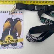 Música de colección: BACKSTAGE SERRAT & SABINA.STAFF GIRA MÉXICO 2012.(3,92 ENVÍO CERTIFICADO). Lote 295506098