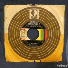 Música de colección: BOXX129 DISCO 7 PULGADAS USA ESTADO DECENTE THE WHO I'M FREE / WE'RE NOT GONNA TAKE IT. Lote 295507503