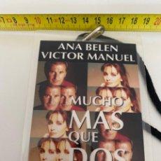 """Música de colección: BACKSTAGE """"MUCHO MAS QUE DOS""""ANA BELEN-VICTOR MANUEL, VER FOTOS (3,92 ENVÍO CERTIFICADO). Lote 295510918"""
