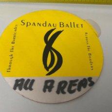 Música de colección: PASES BACKSTAGE SPANDAU BALLET.VER FOTOS (3,92 ENVÍO CERTIFICADO). Lote 295511238