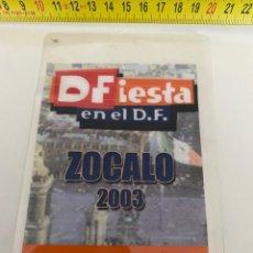 Música de colección: BACKSTAGE 2003 JOAN MANUEL SERRAT, ZÓCALO (MÉXICO), VER FOTOS (3,92 ENVÍO CERTIFICADO). Lote 295514033