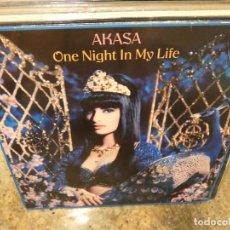 Música de colección: CAJJ151 MAXI SINGLE MUSICA ELECTRONICA DISCOTECA AKASA ONE NIGHT IN MY LIFE ESTADO CORRECTO. Lote 295592713