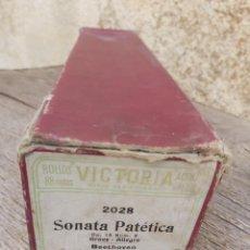 Música de colección: ROLLO PIANOLA MARCA VICTORIA 2028. SONATA PATÉTICA. BEETHOVEN.. Lote 297256628