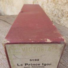 Música de colección: ROLLO PIANOLA MARCA VICTORIA 5193. LE PRINCE IGOR. BORODINE.. Lote 297257638