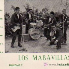 Fotos de Cantantes: POSTAL ORIGINAL GRUPO LOS MARAVILLAS . Lote 4625471