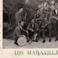 Fotos de Cantantes: POSTAL ORIGINAL GRUPO LOS MARAVILLAS . Lote 4625473