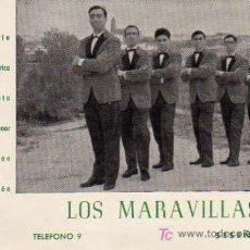 Fotos de Cantantes: POSTAL ORIGNAL GRUPO LOS MARAVILLAS. Lote 4625489