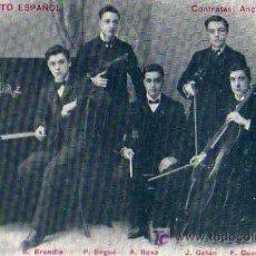 Fotos de Cantantes: QUINTETO ESPAÑOL POSTAL ORIGINAL . Lote 4625498