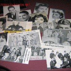 Fotos de Cantantes: MAGNIFICA COLECCION DE 71 CARTELES DE MANO DE CANTANTES Y CONJUNTOS AÑOS 60. Lote 9606803