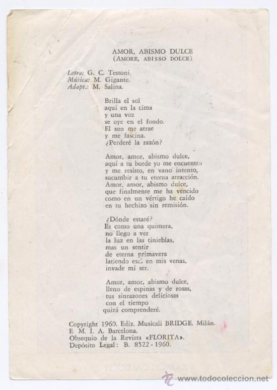 Fotos de Cantantes: CANTANTE *RAMON CALDUCH* - AÑO 1960 - REVISTA FLORITA - Foto 2 - 26846364