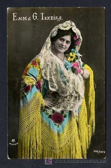 TP *EMMA G. TEXEIRA* EDC. M.P. MADRID, Nº 388-6082. NUEVA (Música - Fotos y Postales de Cantantes)