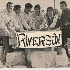 Fotos de Cantantes: POSTAL GRUPO MUSICAL LOS RIVERSON AÑOS 60.. Lote 27020188