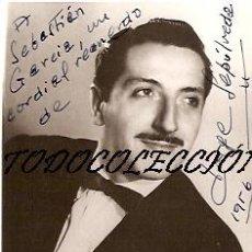 Fotos de Cantantes: JORGE SEPULVEDA (CANTANTE) FOTOGRAFIA 8 X 11 CTMS. AUTOGRAFIADA. Lote 15306130