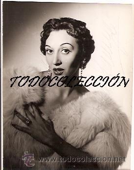 MARUJA TAMAYO (VEDETTE) FOTOGRAFIA 8 X 11 CTMS. AUTOGRAFIADA (Música - Fotos y Postales de Cantantes)