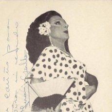 Fotos de Cantantes: JUAN GALLO - (IMITADOR FONOMÍMICO DE LOLA FLORES) - POSTAL ORIGINAL (DEDICATORIA AUTÓGRAFA). Lote 24696585