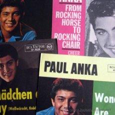 Fotos de Cantantes: PAUL ANKA – LOTE 4 CARATULAS ORIGINALES GERMANY 60´S – RCA / VICTOR. Lote 20305443