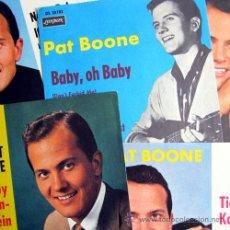 Fotos de Cantantes: PAT BOONE – LOTE 5 CARATULAS ORIGINALES GERMANY 60'S – LONDON RECORDS. Lote 20305540