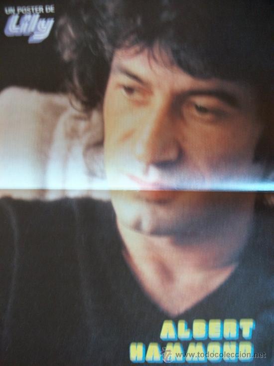 POSTER AÑOS 70 EXTRAIDO DE TEBEO 37 X 26,50 ALBERT HAMMOND (Música - Fotos y Postales de Cantantes)