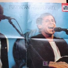 Fotos de Cantantes: SIMON AND GARFUNKEL-V70-POSTER EL GRAN MUSICAL-57X40CM-REVERSO NEW YORK CENTRAL PARK. Lote 21102008