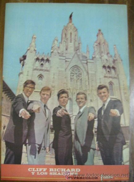 POSTER DE LA REVISTA SUPERCOLOR FANS CLIFF RICHARD Y LOS SHADOWS (Música - Fotos y Postales de Cantantes)