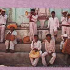 Fotos de Cantantes: QUEX - POSTALES CANTANTES GRUPOS - POSTAL BANDA DE MUSICA MEJICANA CIRCULADA. Lote 25199993