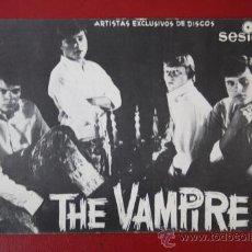 Fotos de Cantantes: ANTIGUA FOTO / POSTAL DEL GRUPO THE VAMPIRES, EDITADA POR SESION . Lote 29383163