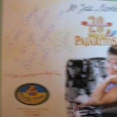 Fotos de Cantantes: TARJETA DE MARIA JESUS Y SU ACORDEÓN CON DEDICATORIA Y FIRMA. Lote 29599391