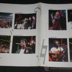 Fotos de Cantantes: AMNISTIA CONCIERTO BRUCE ULTIMO DE LA FILA STING GABRIEL CHAPMAN ORIGINAL EPOCA. Lote 158367462