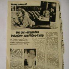 Photos de Chanteurs et Chanteuses: MADONNA RECORTE MEDIA PÁGINA REVISTA ALEMANA AÑOS 90. Lote 32966482