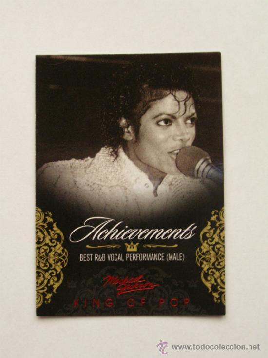 MICHAEL JACKSON TARJETA COLECCIÓN PANINI 2011 USA (Música - Fotos y Postales de Cantantes)