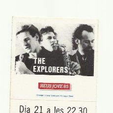 Fotos de Cantantes: THE EXPLORERS ADHESIVO PEGATINA REUS JOVE 1985 CAMP C.F.REDDIS. Lote 33500355