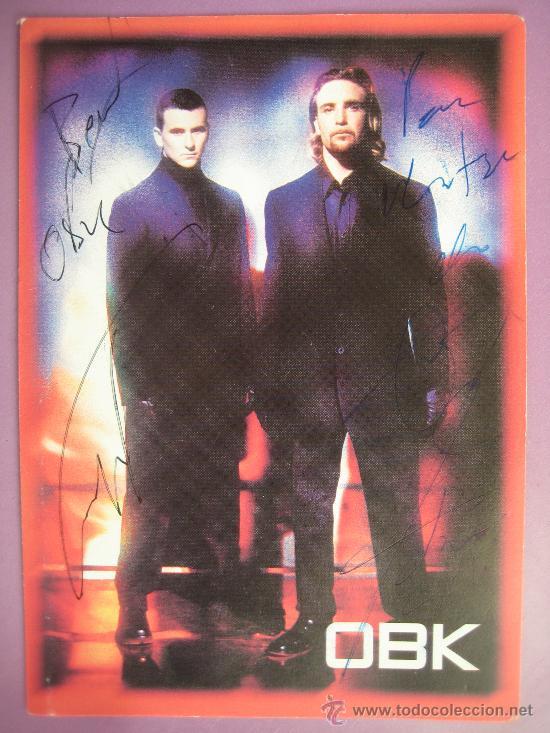 OBK, POSTAL FIRMADA AÑO 2000, (Música - Fotos y Postales de Cantantes)