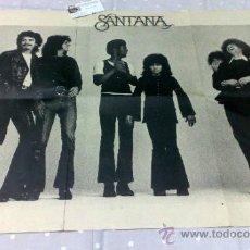 Fotos de Cantantes: AÑO 1970.- SANTANA.- POSTER EN BLANCO Y NEGRO.. Lote 35456117